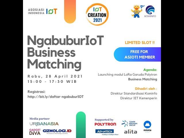 #IoT #businessmatching NgabuburIoT Businesss Matching 28 April 2021