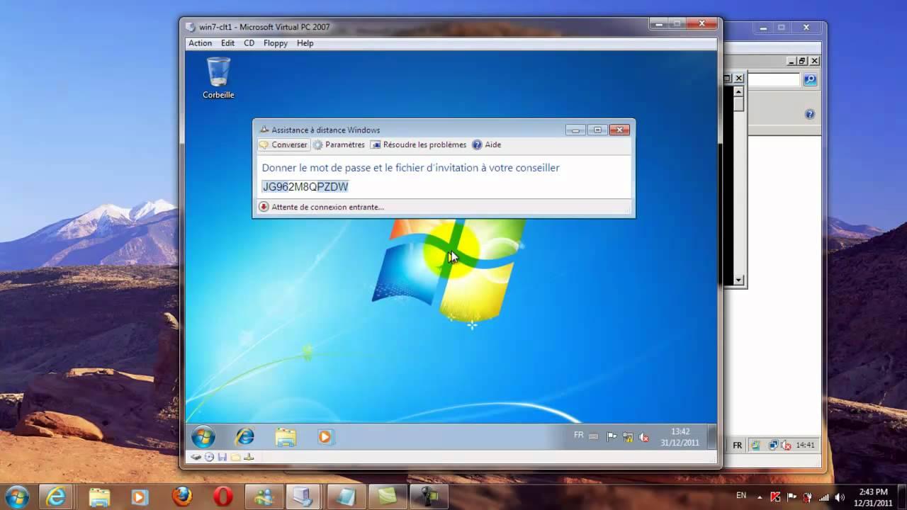 Assistance distance Windows windows 7 YouTube