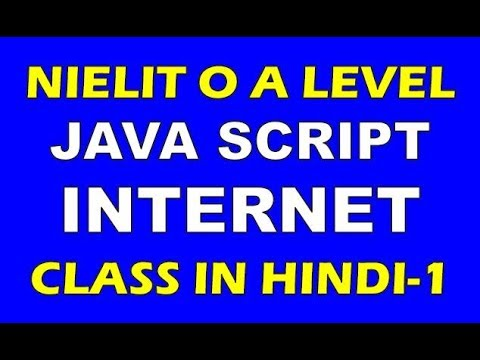 Nielit O Level Internet & Web Design M2-R4 JavaScript Code Question  Solution In Hindi CLass 1 by TechVideo Guru