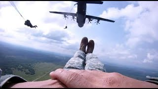 Army Paratroopers Static Line Jump From C 17