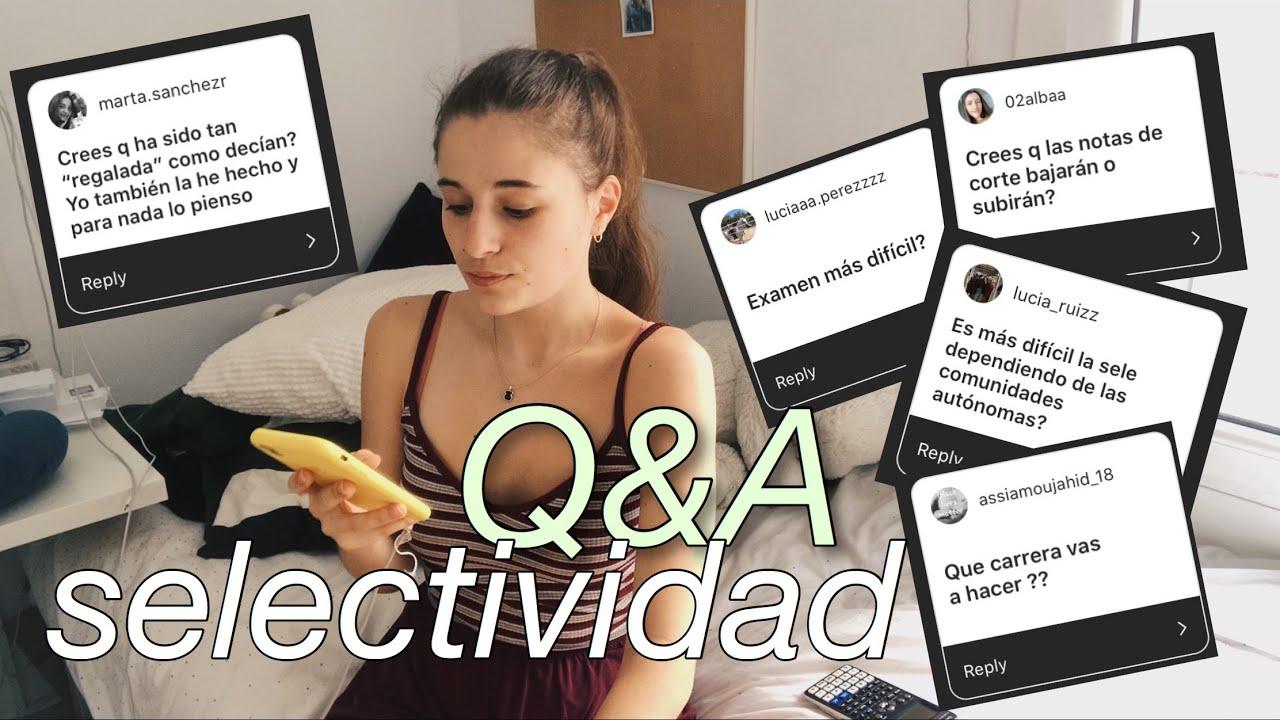 preguntas y respuestas de selectividad - YouTube