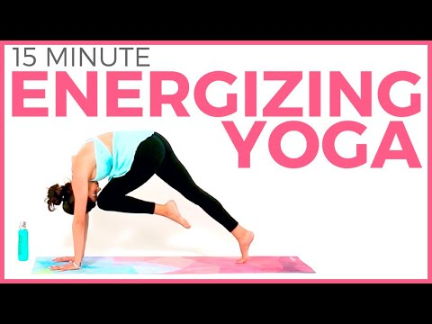 15 minute Energizing Power Flow Morning Yoga Workout for ENERGY | Sara…
