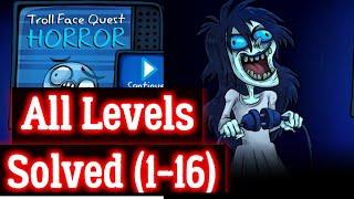 Troll Face Quest Horror All Levels  Walk Through Android Ios
