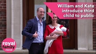 Royal Baby: Prince William and Kate introduce their third child to the public