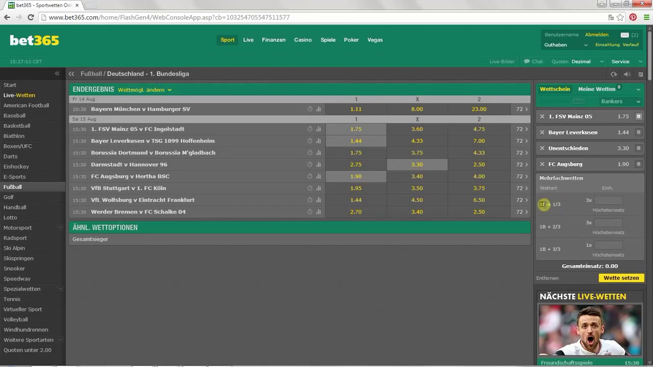 Bet365 Multiple Bets