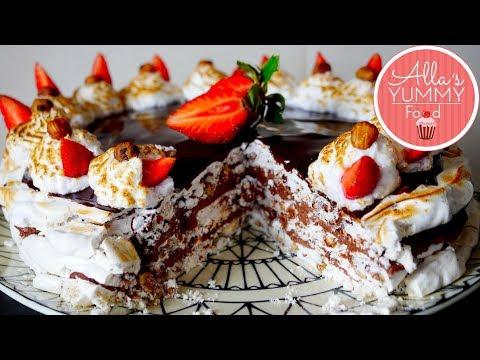 "Cielavina Cake Recipe (Chocolate Hazelnut Meringue Cake )   Torte ""Cielaviņa"""