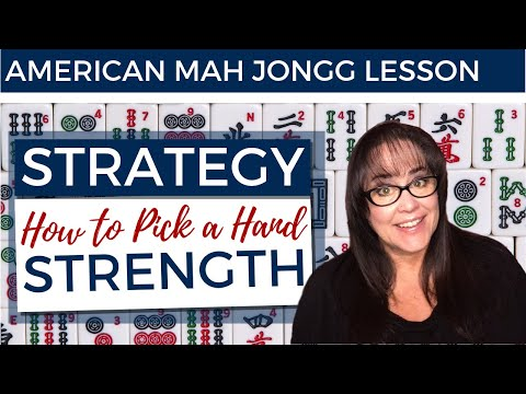 American Mah Jongg Lesson Strategy How To Pick A Hand - Strength (mock Card)