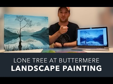 Landscape Painting #1: The Lone Tree at Buttermere