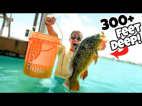 Fishing DEEPEST CLEARWATER Lake For MASSIVE PEACOCK BASS!! (LIVE BAIT)