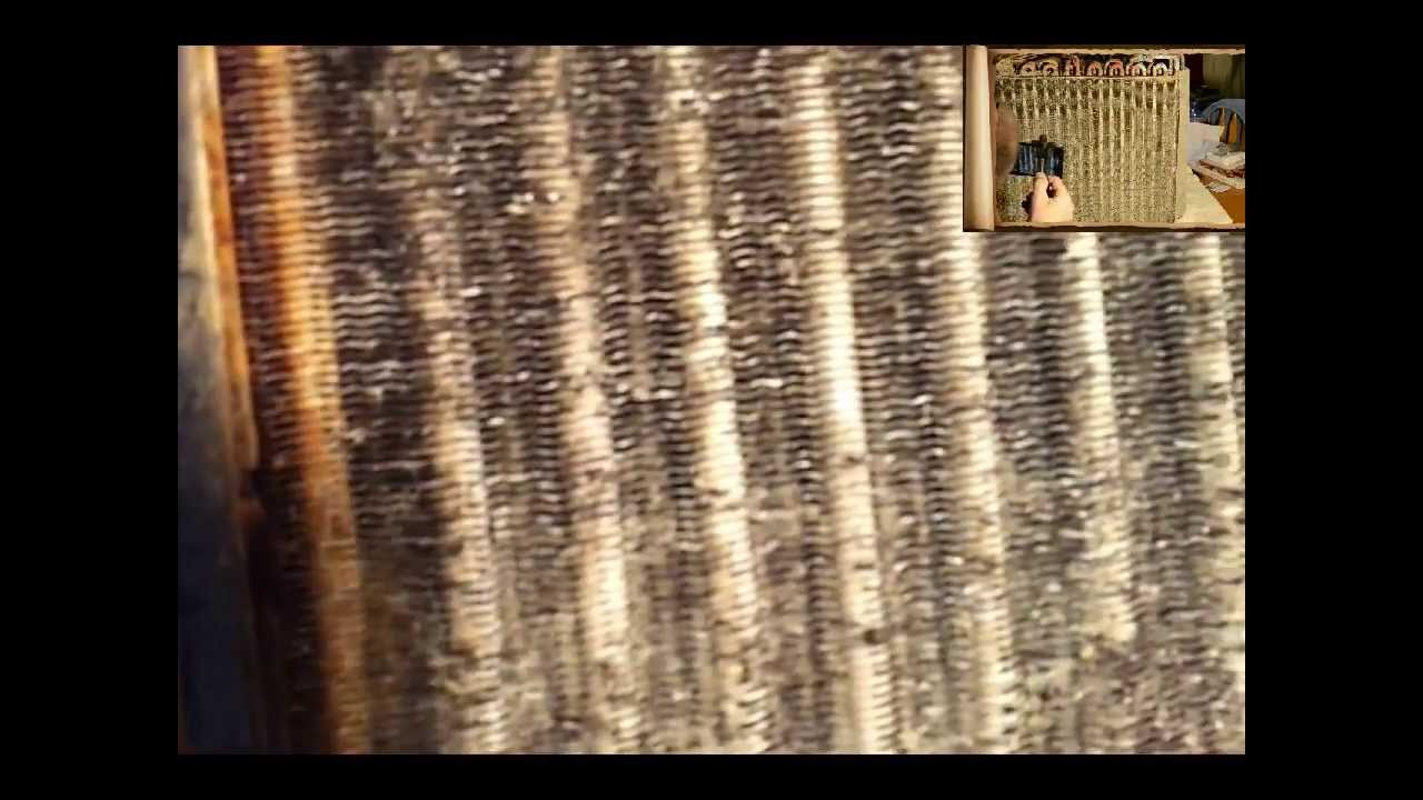 Hvac Dirty Evaporator Coil Removal Cleaning And Reinstall In Air Conditioning Unit Part 2 You