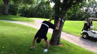 Upside Down Golfer Twerking To Obtain A Free Mangorita