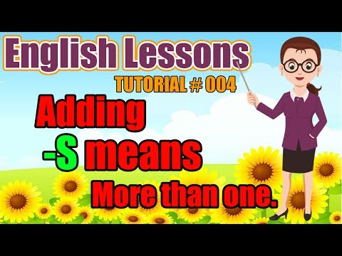 English Lessons | Tutorial 4: Adding  -s means more than one (Beginner 1)