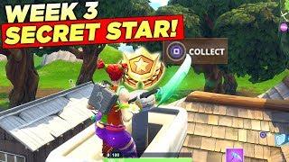 Secret Battle Star Week 3 Season 6 LOCATION! Fortnite Hidden Free Tier (Hunting Party Challenges)