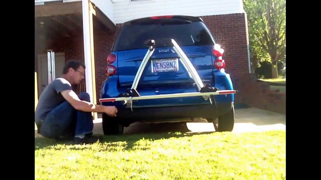 2009 Smart Fortwo Passion Custom Bike Rack Install Reduced 11