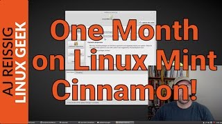 One Month on Linux Mint Cinnamon!