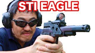 【実弾射撃】 STI EAGLE.45口径 ハイキャパ レースガン を 撃ってみた!【マック堺のレビュー動画】#366
