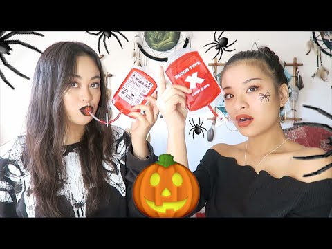 ON BOIT DU SANG ?! #HALLOWEEN 🎃🕷☠️ - DÉGUSTATION/UNBOXING