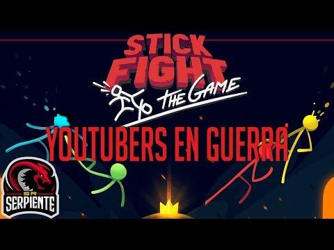 YOUTUBERS EN GUERRA | STICK FIGHT THE GAME c/ None, Zellen y Eruby
