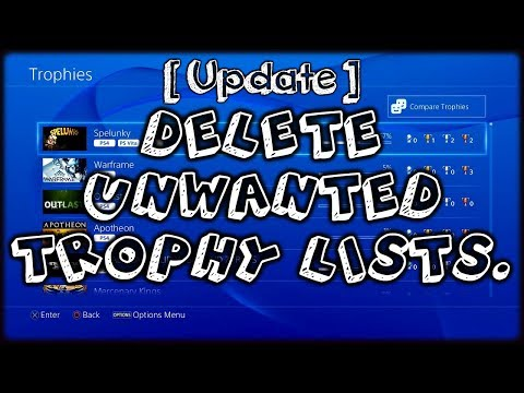How To Delete A Trophy List On Your PlayStation 4