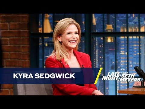 Kyra Sedgwick Followed a Friend into a Bathroom Stall for a Conversation