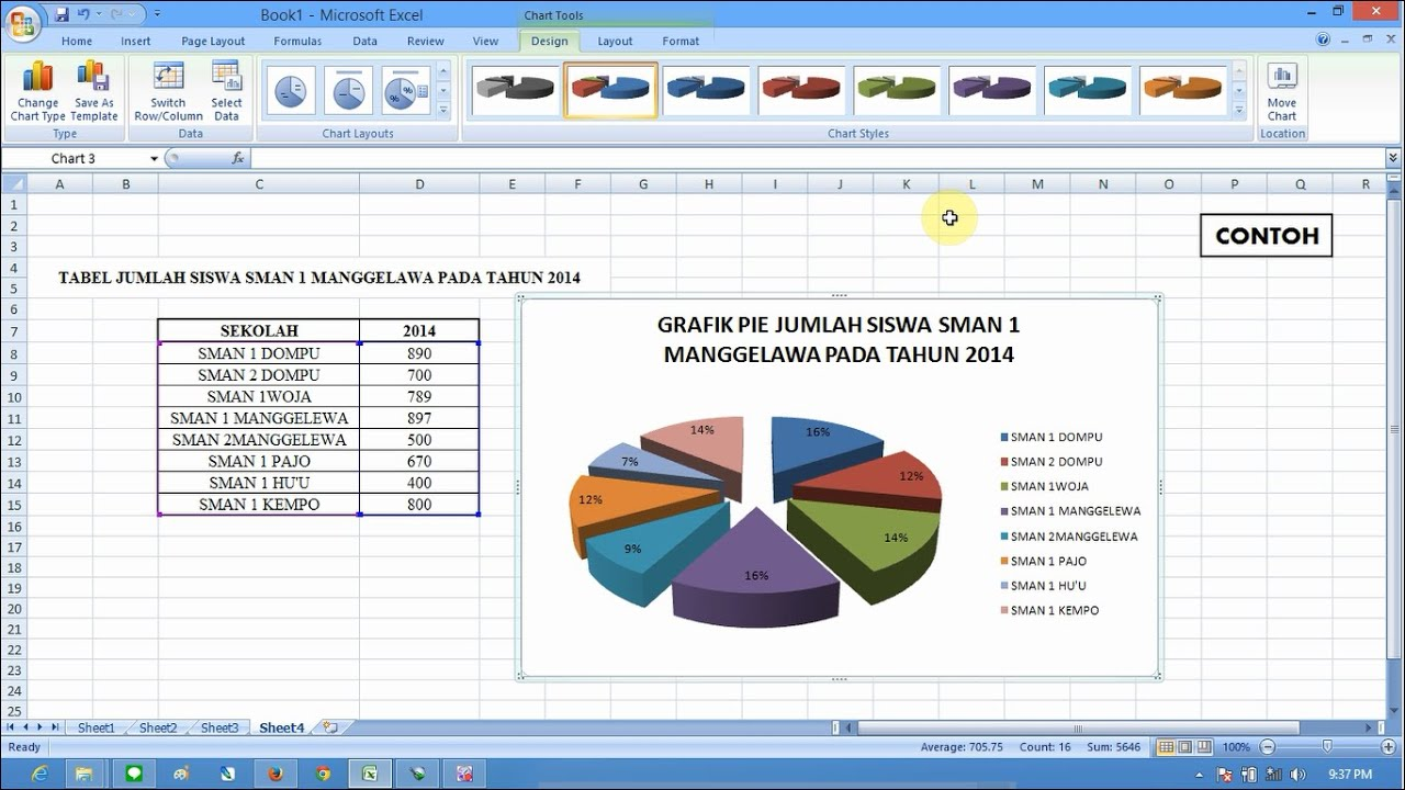 Cara membuat grafik pie di microsoft excel youtube cara membuat grafik pie di microsoft excel ccuart Image collections