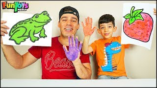 Drawing Animals with Paint for Kids