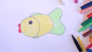 Как нарисовать рыбку?(Привет. Меня зовут Таня! Это видео из серии доступных для детей уроков