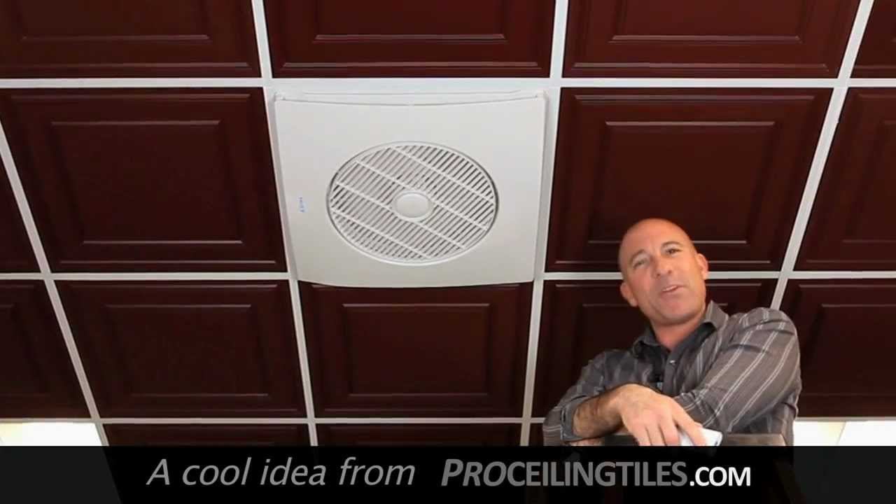 Drop Grid Ceiling Fan Youtube