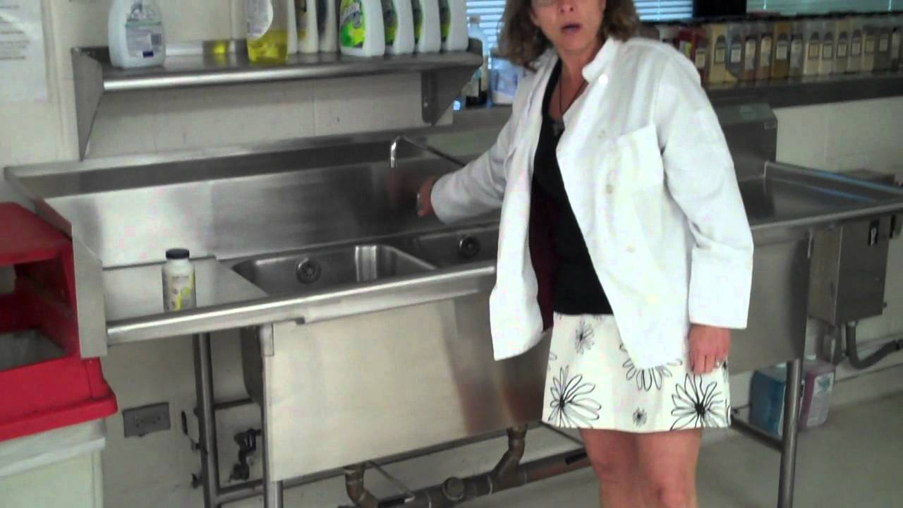 Three Compartment Sink Wmv Youtube