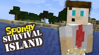 Things are getting CREEPY in Minecraft - Spongy Survival Island [36]