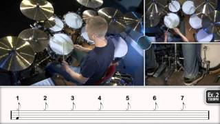 Repeat youtube video Learning 7/8 Odd Time - Drum Lesson (DRUMEO)