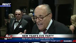 STRONG WORDS: Rudy Giuliani on democrats, impeachment at Mar-A-Lago NYE party