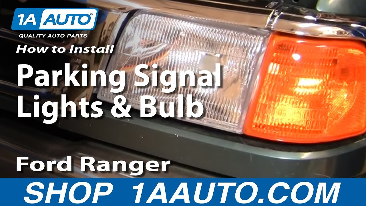 How To Replace Corner Light 93 97 Ford Ranger Youtube
