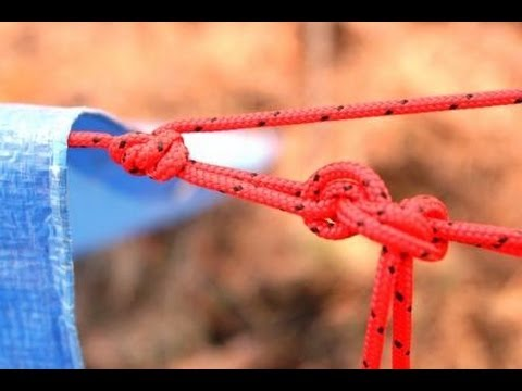 How to tie three basic knots for making quick easy tarp survival shelters & How to tie three basic knots for making quick easy tarp survival ...