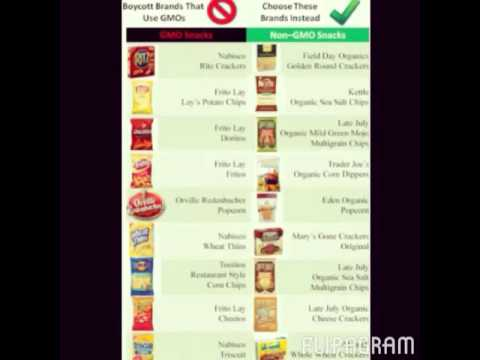 Snacks and Chips That Contain GMOs Chemicals GMO