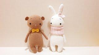 나의 첫 코바늘인형 - 토끼와 곰인형 만들기 part2 (인형 초보용) My first crochet doll - rabbit and bear (beginner friendly)