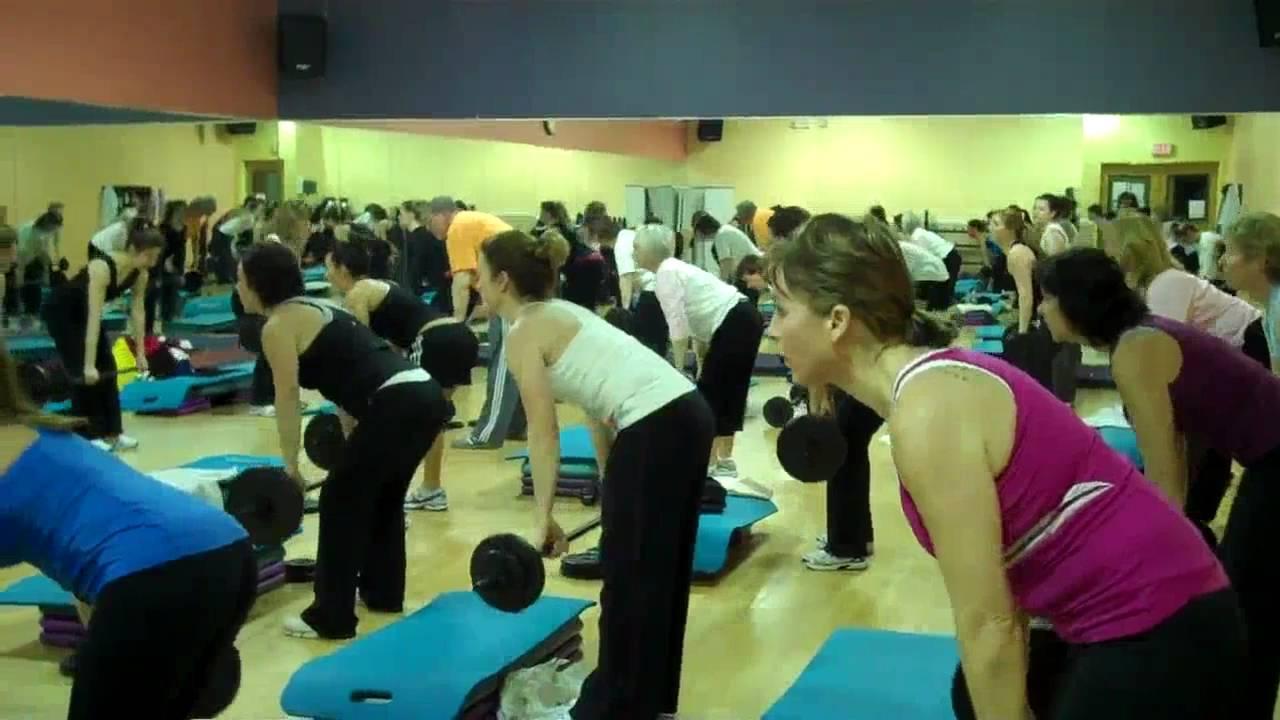 Body Pump Launch Gold's Gym Carmel - YouTube