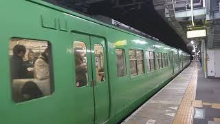 JR西日本 117系300番台 草津線直通 柘植行き 京都駅  膳所駅