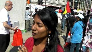 Interview at the Tamil Protest London
