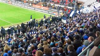 Darmstadt 98 - Mannschaft bei Ihren Fans bei St. Pauli