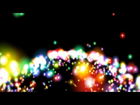 4K Particle Rainbow Bursts 2160p Motion Background