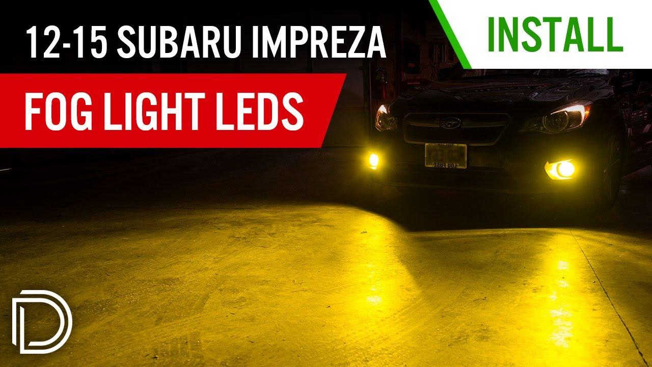 how to install 2008-2014 subaru impreza slf fog light leds | diode dynamics