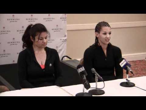 Teresa Perozzi -- April Ward Interview WBA World Title Bermuda March 9 2012
