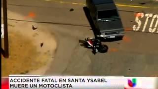 Accidente fatal en Santa Ysabel, muere motociclista