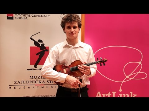 David Horvat, violin, ArtLink - Société Générale Most Promising Young Music Artist in 2014