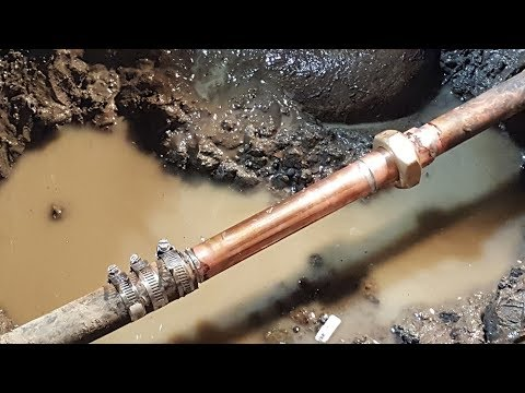 Underground Water Leak Repair Ремонт