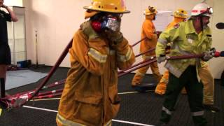 Awake, Smoky and Hot - simulated bushfire fighting