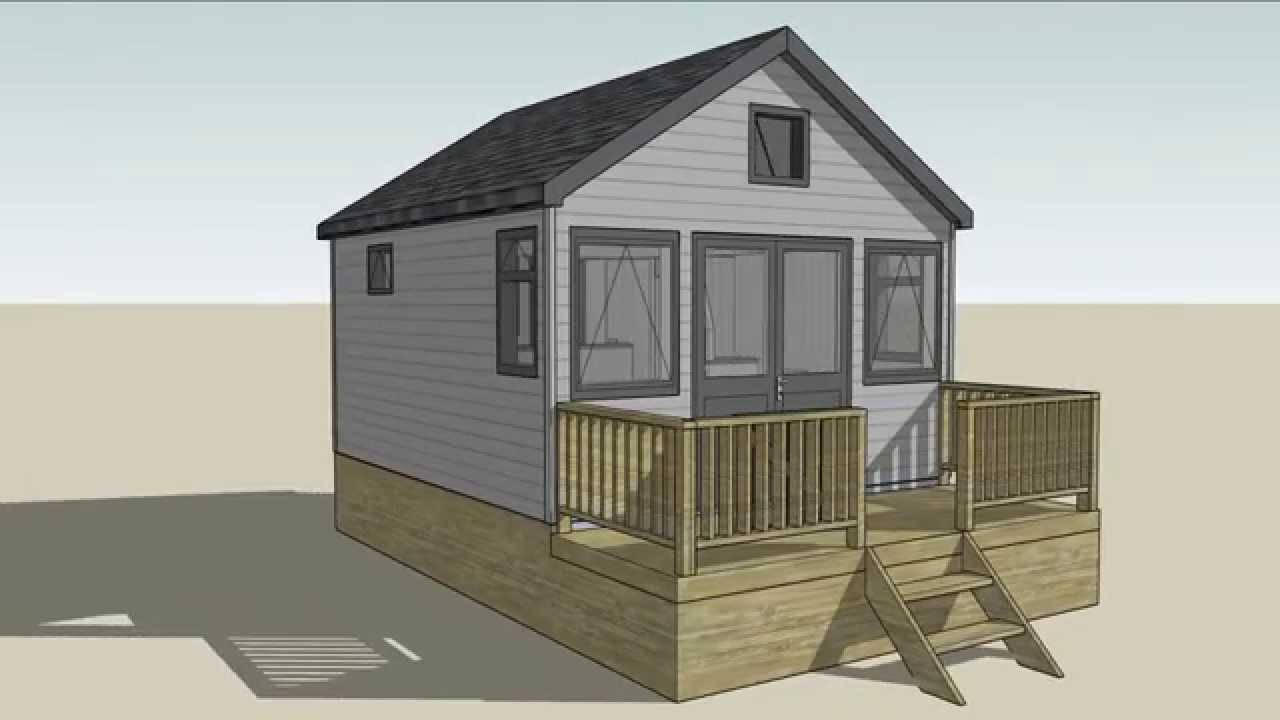 3d animation of mudeford beach hut design youtube for Beach hut plans
