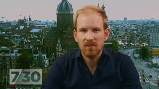 Rutger Bregman's viral tax speech did not go down well in Davos | 7.30