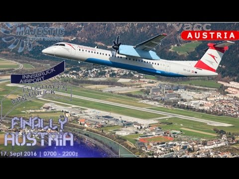 Majestic Q400 from Vienna to Innsbruck on Vatsim